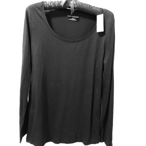 Ann Taylor Black Long Sleeve Tee Shirt